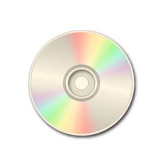 Golden DVD on white background