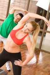During aerobics training