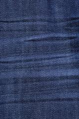 Cotton blue jeans texture
