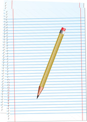 Vector illustration - notepad with pencil