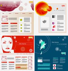 Set of Websites design templates, vector.