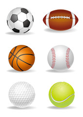 vector sport ball set
