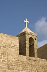 Cross on top of church, old Jaffa, Israel