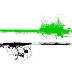 GREEN BLACK FLORAL COPYSPACE BACKGROUND