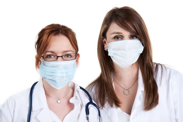 Doctors and surgical masks