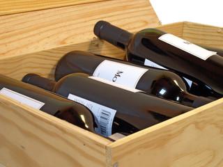 Caisse de vin de Bordeaux