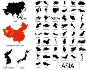 Asian countries vectors