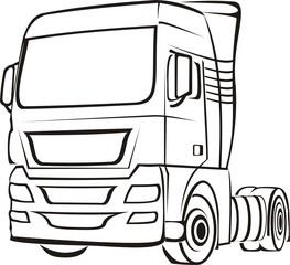 truck, lorry, tir