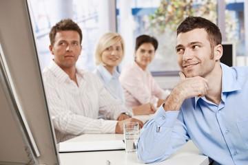 Businessman on meeting