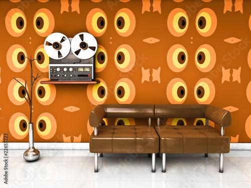 salon ann es 70 photo libre de droits sur la banque d 39 images image 22653223. Black Bedroom Furniture Sets. Home Design Ideas