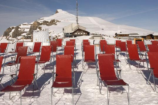 Deckchairs on the glacier