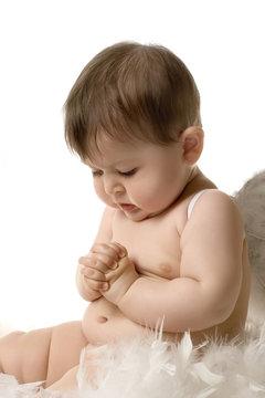 Praying baby angel