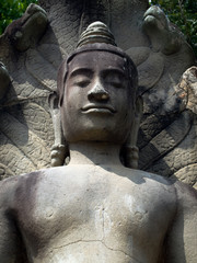 Buddha statue carved from stone