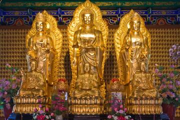 Gold chinese buddha image