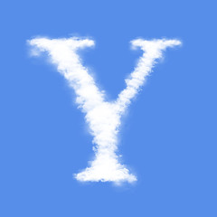 Clouds in shape of the letter Y