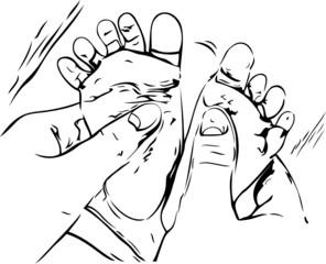 Child massage illustration
