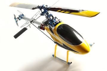 Hélicoptère modèle réduit aluminium et carbone