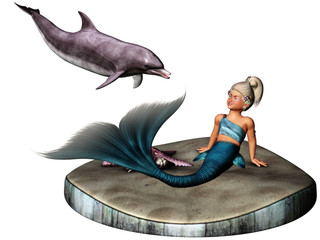 Photo sur Aluminium Mermaid little Mermaid 2