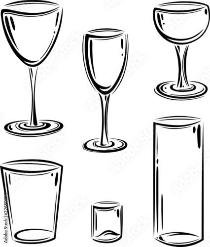 Gläser  Glas, Gläser, Sektglas, Weinglas, Gläser Set