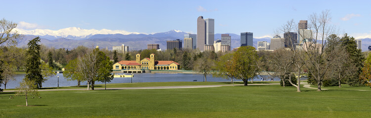 Denver Skyline from City Park Panorama