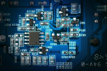 A macro shot of circuit board