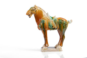 tri-colored glazed pottery of the tang dynasty