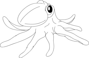 vector - nice octopus isolated on background