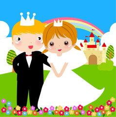 Poster Castle Prince and princess