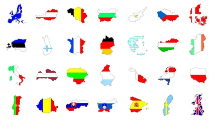 European Union countries and flags