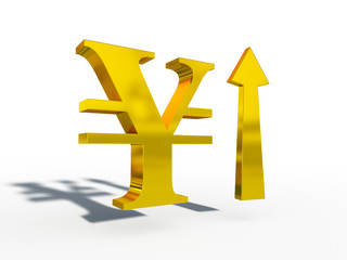 JPY Japanese yen up down course 3d cg