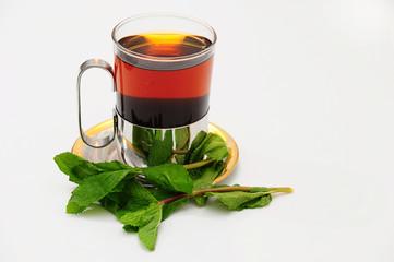 A GLASS OF TEA.