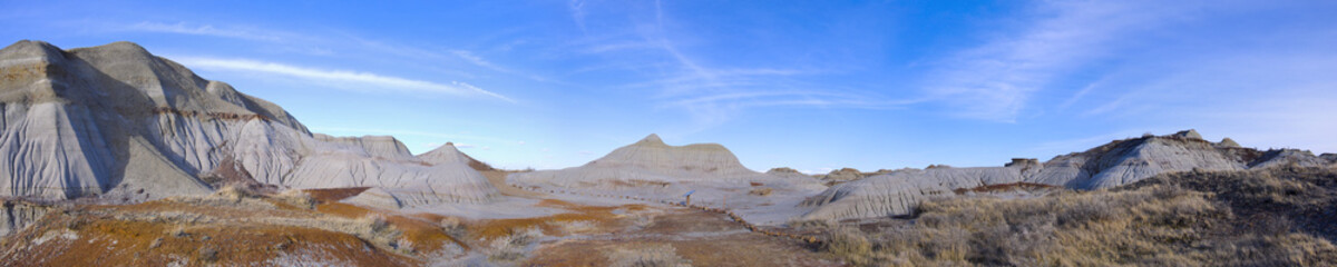 Badlands in Dinosaur Provincial Park Panorama