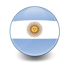 Esfera brillante con bandera Argentina