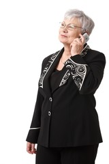 Senior woman with mobile phone