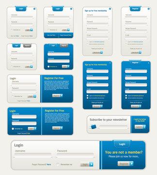 Vector Website Forms