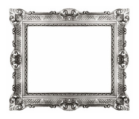 Silver ornate frame