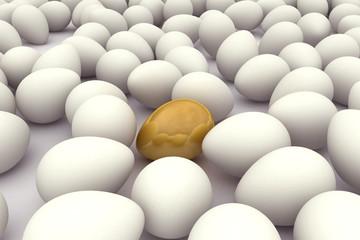 Original egg among thousand various