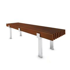 Wooden bench with metal foot in the park