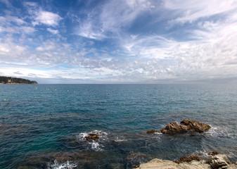Costa Brava sea landscape
