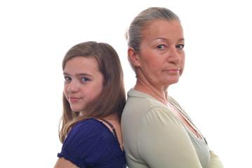 Mutter und Tochter im Streit. Sample text.