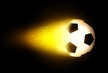 Brennender Fussball
