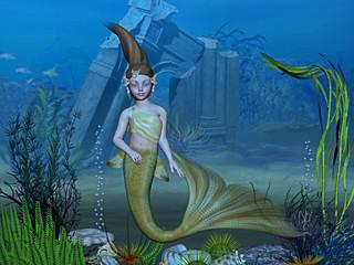 Photo sur Aluminium Mermaid atlantis