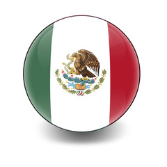 Esfera brillante con bandera Mexico