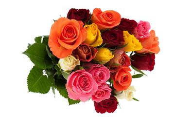 Bund mit Rosen in mehreren Farben