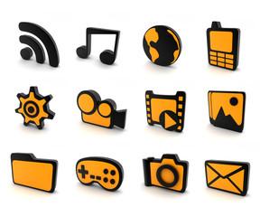 Icon 3d (orange)