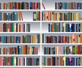 Door stickers Library vector modern bookshelf