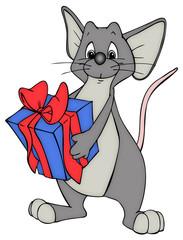 Geburtstag, Maus, Ratte, Geschenk, Geburtstagsparty
