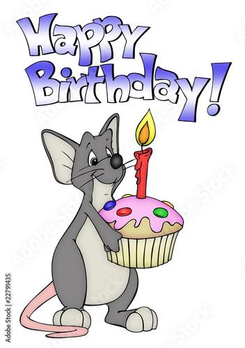 Geburtstag Maus Ratte Kuchen Muffin Geburtstagsparty