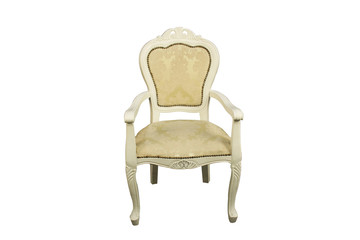 Antique chair, isolated on white