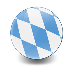 Esfera brillante con bandera Baviera